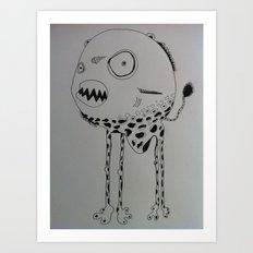 Piranâ with an attitude Art Print