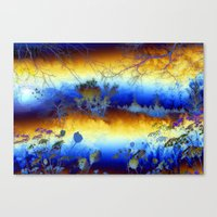 ABSTRACT - My Blue Heave… Canvas Print