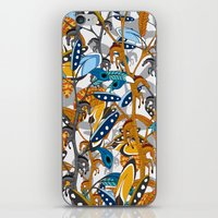 Multicolor Horse Feathers iPhone & iPod Skin