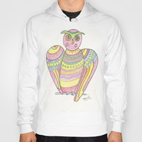 Owl Hand Drawing Hoody