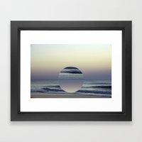 Ocean Sunrise Remix Framed Art Print