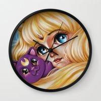 Sailor Moon and Luna Wall Clock