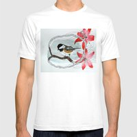 Black Capped Chickadee A… Mens Fitted Tee White SMALL