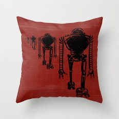 March Of The Robots Throw Pillow