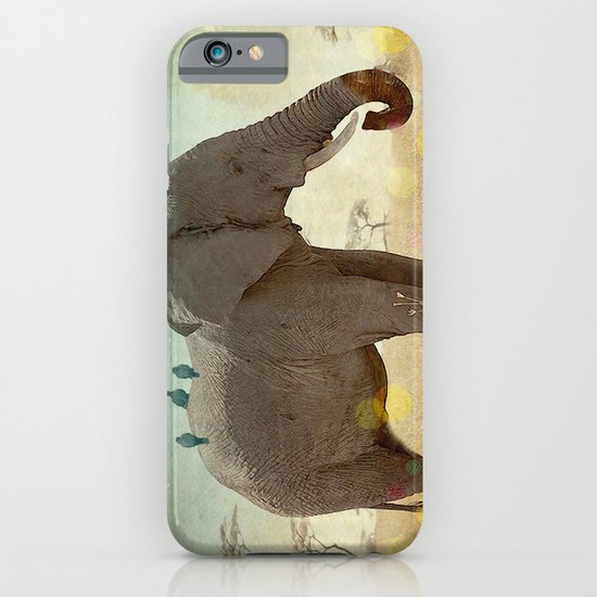 along for the ride _ an elephant and his feathered friends iPhone & iPod Case