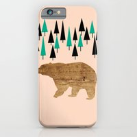 iPhone & iPod Case featuring Bear in the woods by Simi Design