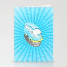 Road Trip Blue Van Stationery Cards