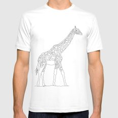 Giraffe White SMALL Mens Fitted Tee