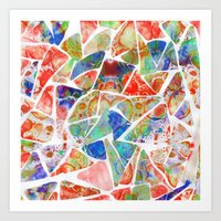 Marbled Earth Art Print