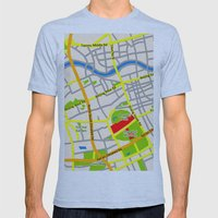 Shanghai Map Design Mens Fitted Tee Athletic Blue SMALL