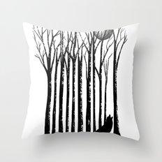 Wolf Barcode Throw Pillow
