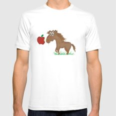 Horse Food SMALL White Mens Fitted Tee