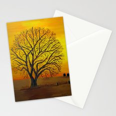 Rural sunset Stationery Cards