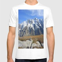 Trail Blazing The Alps Mens Fitted Tee White SMALL