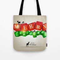 Merry Christmas 3D With … Tote Bag