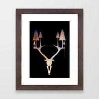 Antler Forest Framed Art Print