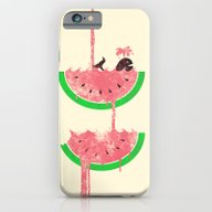 iPhone & iPod Case featuring Watermelon Falls by Jonah Block