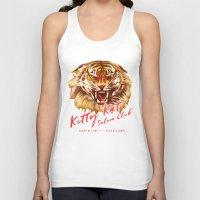 Kitty Kat Saloon Club - Cream Unisex Tank Top