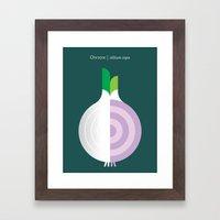 Vegetable: Onion Framed Art Print