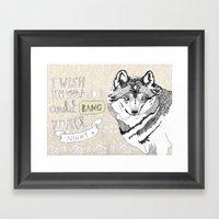 I Wish You Were A Door Framed Art Print