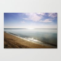 Ocean Glitter Canvas Print