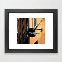 The Wine Bar Framed Art Print
