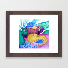 Mother purple nature Framed Art Print