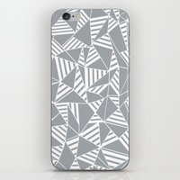 Abstract Lines B Grey iPhone & iPod Skin