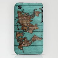 Wood Map iPhone (3g, 3gs) Slim Case