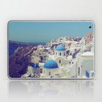 Blue Domes II, Oia, Santorini, Greece Laptop & iPad Skin