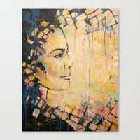 Looking to the Future -beautiful woman Canvas Print