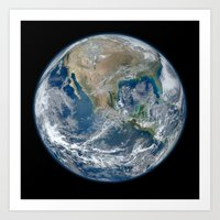 Planet Earth The Blue Ma… Art Print