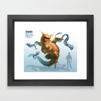 Pokemon-Dragonite Framed Art Print