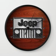Embossed Steel Jeep Logo… Wall Clock