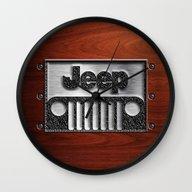 Embossed Steel Jeep Logo… Wall Clock