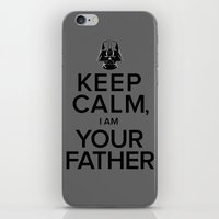 iPhone & iPod Skin featuring Keep Calm, I Am Your Father by Firefish