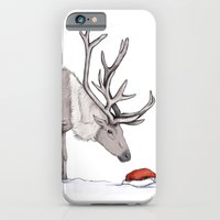 iPhone & iPod Case featuring Christmas reindeer by Laura MSS