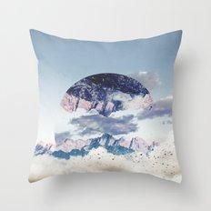 Abstract Mountains Throw Pillow