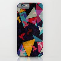 iPhone & iPod Case featuring Origami Flight by AJJ ▲ Angela Jane Johnston