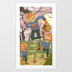 Halloween Family Fun Art Print