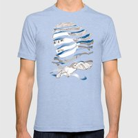 Sarah Unraveled Mens Fitted Tee Tri-Blue SMALL