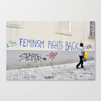 Feminism fights back Canvas Print