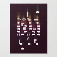 War Of The 8-Bit Worlds Canvas Print