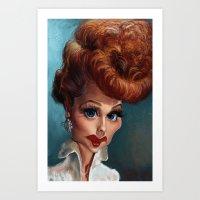 Lucille Ball. Art Print