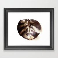 Single Dry Leaf Framed Art Print