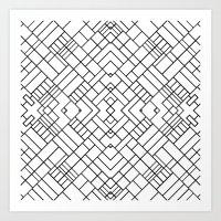 PS Grid 45 Art Print