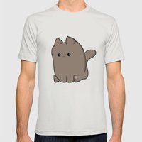 Cube Cat Mens Fitted Tee Silver SMALL