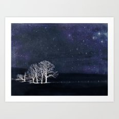 The Fabric of Space and the Boundary of Knowledge Art Print