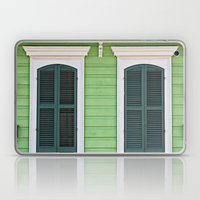 Green Creole Cottage Laptop & iPad Skin