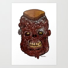 Heads of the Living Dead Zombies: General Meathead Zombie Art Print